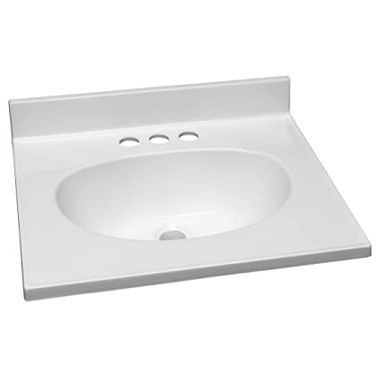 Design House 551242 19 Inch By 17 Inch Marble Vanity Top Single Bowl