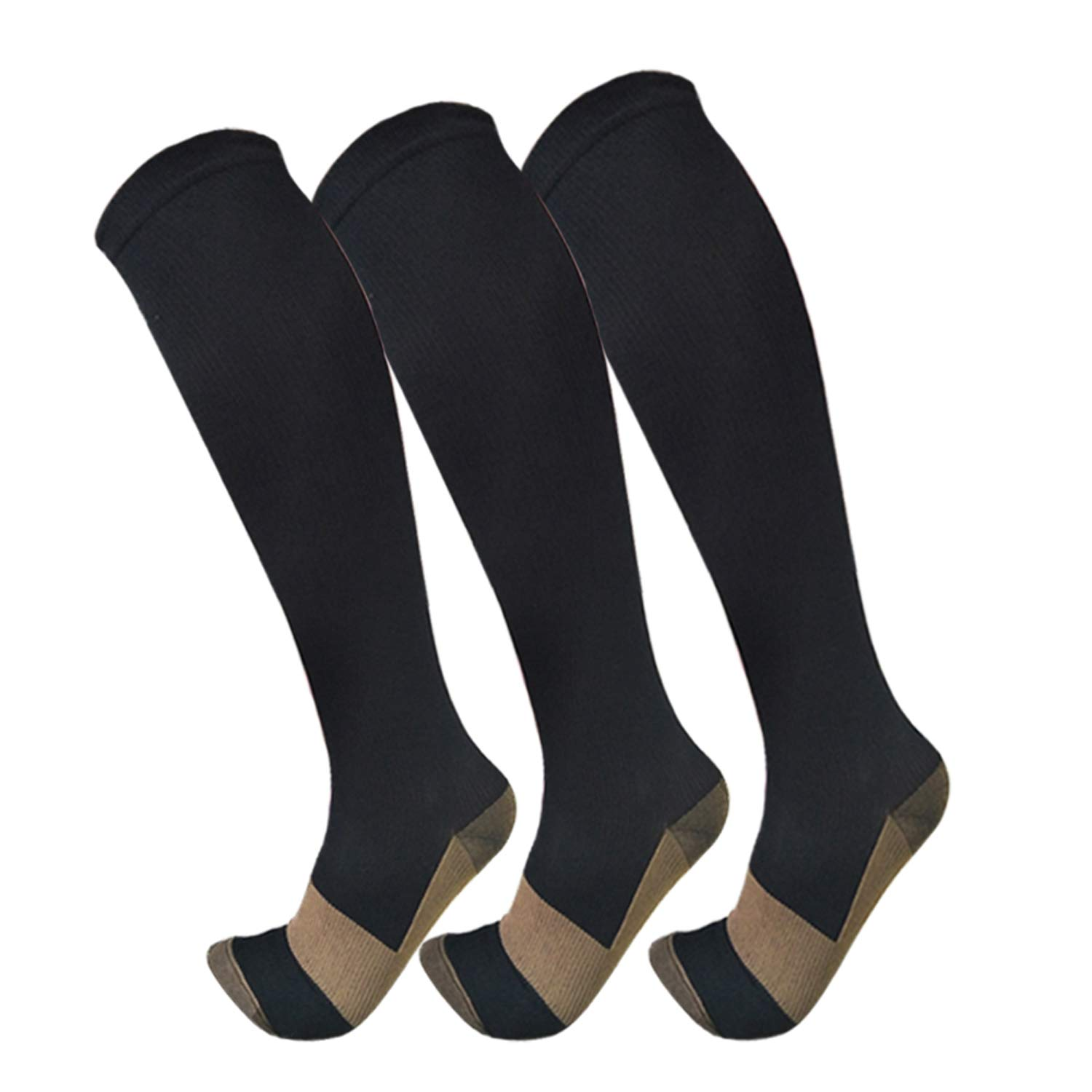 FuelMeFoot Copper Compression Stockings For Men And Women