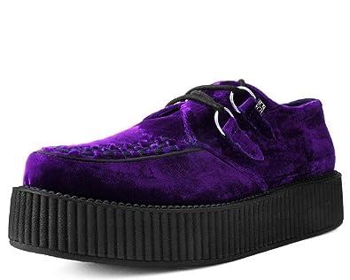 brand new 7f846 befce TUK Shoes V9490 Unisex-Adult Creepers, Violet Velvet Viva Mondo Creeper
