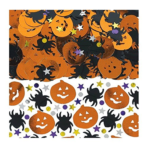 Amscan | Halloween Trick or Treat Party Decoration | Halloween Metallic Foil Confetti Mix |  Pack contains 2.5 oz