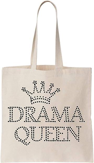Queen Crown Oh The Drama Queen Algodón Bag Tote Bag: Amazon.es ...