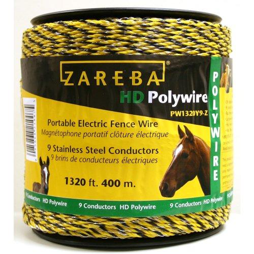 Zareba PW1320Y9-Z 400m Polywire with 9 Conductors