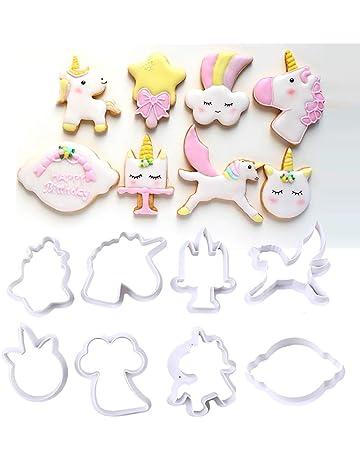 Molde de galletas de plástico unicornio Molde de azúcar para hornear Fondant Cake Decorating Tool para