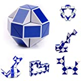 Dhavl 24 Sections Snake Magic Ruler Puzzle Twist 3D Jigsaw Magic Cube Intelligence Children Educational Toy