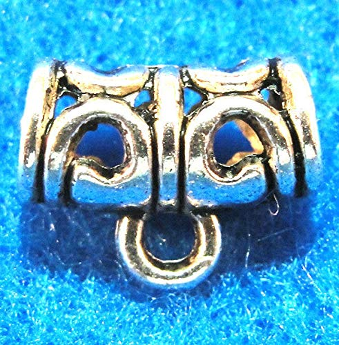 (10Pcs. Tibetan Silver Pendant Charm Bail Connectors Jewelry Findings BA16 Crafting Key Chain Bracelet Necklace Jewelry Accessories Pendants)