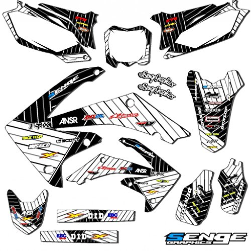 Senge Graphics Kit Compatible with Honda 2005-2007 CRF 450R Race Series White Graphics -