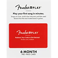 Fender Play – Instructional, Learn to Play Guitar Lesson Platform for Beginners – 6 Month Prepaid Gift Card