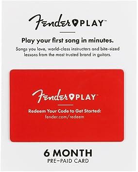 Fender Play 6206700021 - Tarjeta de regalo de 6 meses ...