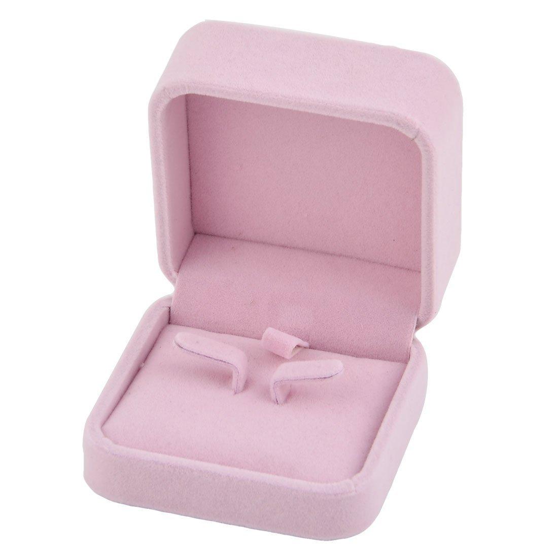Amazon.com: eDealMax Collar de terciopelo Inicio Plaza Aretes de Regalo de la joyería caja del sostenedor DE 7 x 7 cm Rosa: Home & Kitchen
