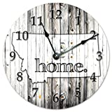 Cheap MONTANA STATE HOME CLOCK Black and White Rustic Clock – Large 10.5″ Wall Clock