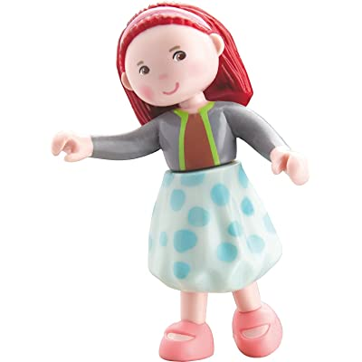 "HABA Little Friends Imke - 4"" Bendy Girl Doll Figure with Red Hair & Headband: Toys & Games [5Bkhe1000631]"