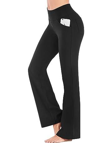 50e7ed546e IUGA Bootcut Yoga Pants with Pockets for Women High Waist Workout Bootleg  Pants Tummy Control,