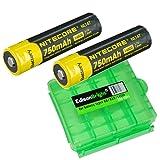 2 Pack Nitecore NL147 14500 Li-Ion Battery with