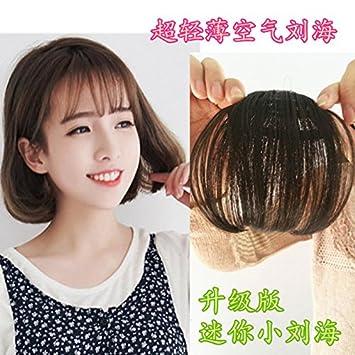 Amazon.com: Invisible Air – flequillo peluca peluca de pelo ...