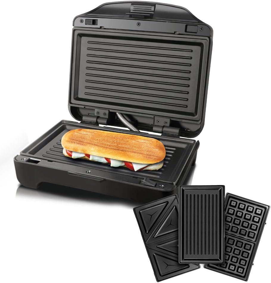 Taurus Miami Premium Sandwichera intercambiable, 900 W, 0 Decibeles, Plastique, Negro: Taurus: Amazon.es: Hogar
