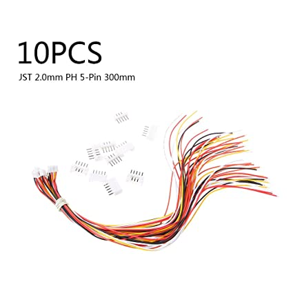 amazon com usdepant 10 set mini micro jst 2 0 ph 5 pin male female rh amazon com