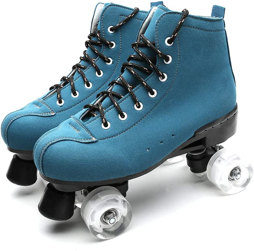 Chiximaxu Outdoor Speed Skates Unisex Artistic Quad Roller Skates for Teens and Adults