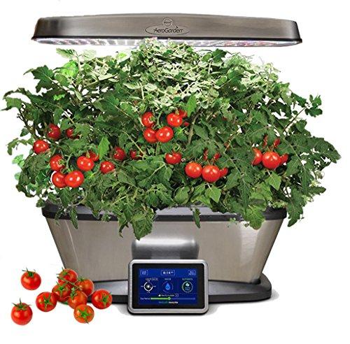 (Miracle-Gro Aerogarden Bounty Elite LED 9-pod with Gourmet Herbs and Bonus Cherry Tomato Kit)
