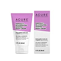 ACURE Radically Rejuvenating Whipped Night Cream | 100% Vegan | Provides Anti-Aging Support | Multi-Peptides, Ferulic Acid & Vitamin C - Hydrates & Rejuvenates | 1.7 Fl Oz
