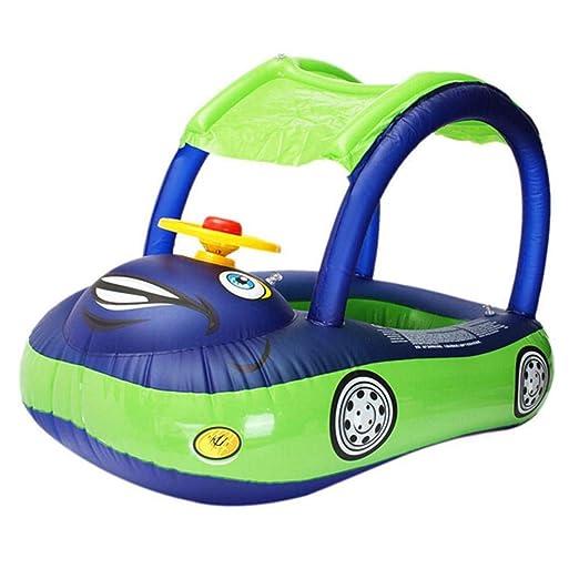 Brownrolly Forma del Volante del automóvil Anillo Inflable de natación para niños Asiento Flotador Herramientas de la Piscina Accesorios para el ...