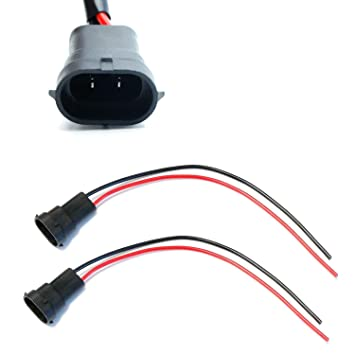 amazon com ijdmtoy 2 h11 h8 880 881 male adapter wiring harness ijdmtoy 2 h11 h8 880 881 male adapter wiring harness sockets wire for headlights