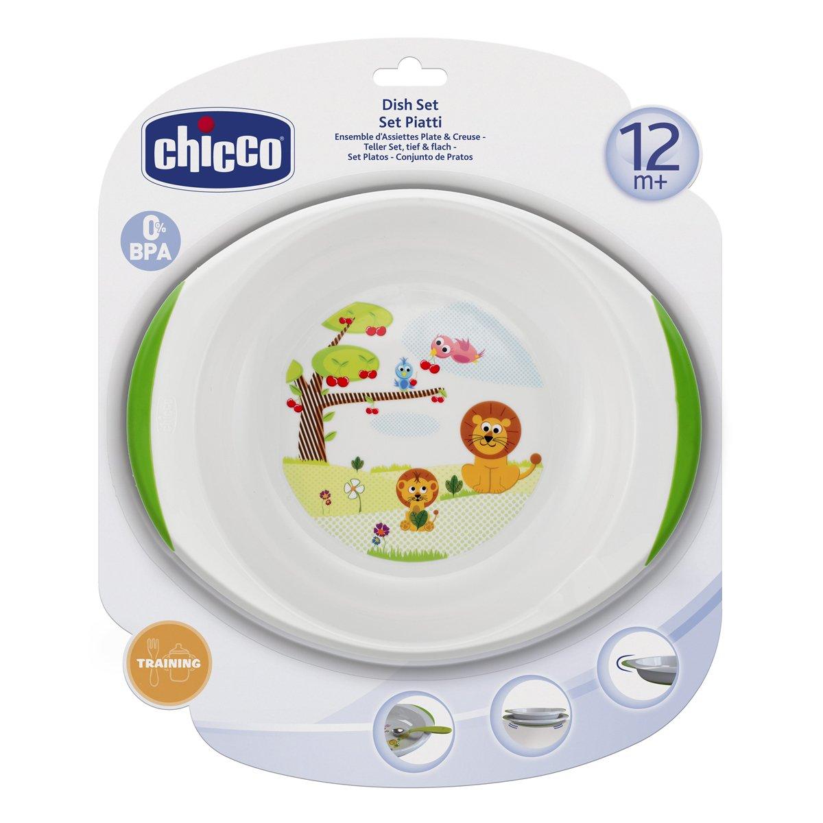 12 Chicco Tellerset 1 flacher und 1 tiefer Teller Monate