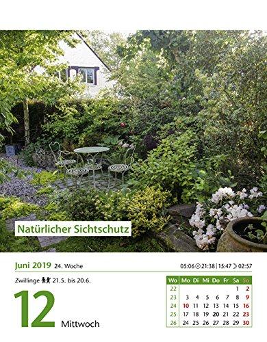 12,5 cm x 16 cm Kalender 2019 Harenberg-Verlag Tagesabrei/ßkalender mit Pflanzenportraits Mein Garten praktische Tipps