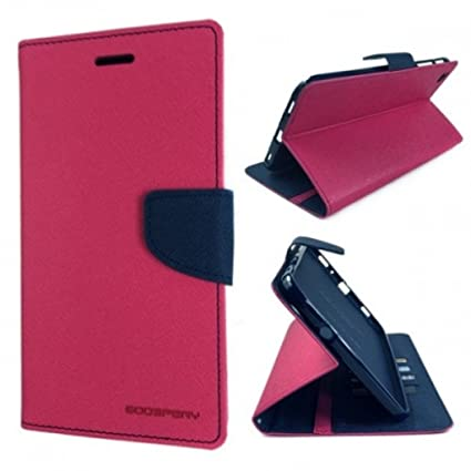buy popular 2f04f 9bc3d JMD Mercury Magnetic Lock Diary Wallet Style Flip Cover for Samsung Galaxy  J5 Prime(Pink)