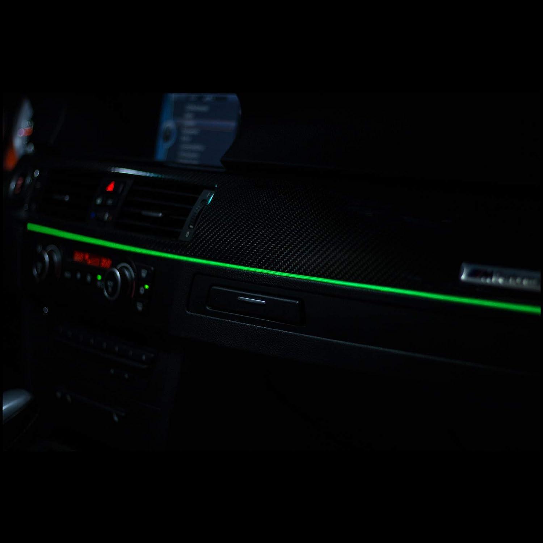 Rot - 5 Meter LETRONIX EL Wire Lichtleiste Ambientebeleuchtung Auto 12V Rot 5 Meter 3,20/€//M