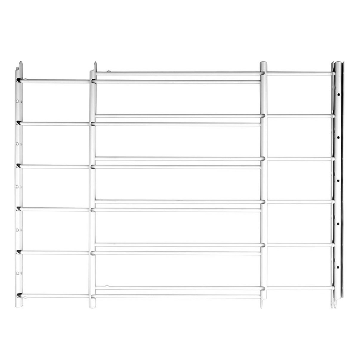 Knape & Vogt John Sterling Swing-Open Style 6-Bar Child Safety and Window Guard, White, 1136, Width 24'' to 42''-Max Height: 25'', Black by Knape & Vogt