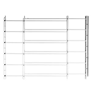 Knape & Vogt John Sterling Swing-Open Style 6-Bar Child Safety and Window Guard, White, 1136-