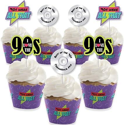 Cupcake Set Muffinf/örmchen mit Toppern Flamingo 24er Set