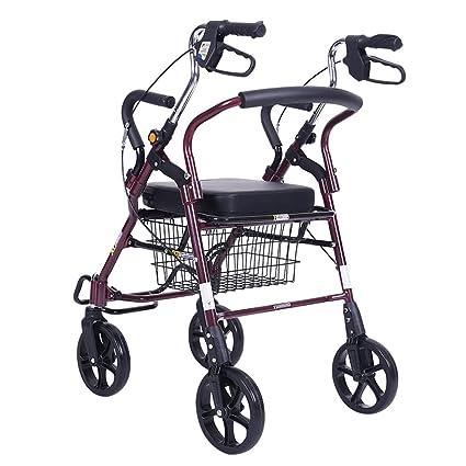 Amazon.com: Rollator Walker - Silla de transporte plegable ...