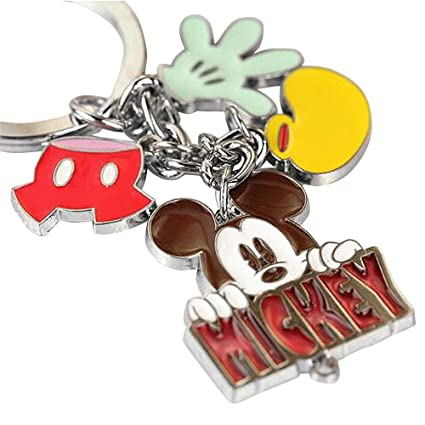 New Arrival Cute Cute Mickey Mouse Glove Pant Shoe Charms Metal Keychain Key Ring Z186-B