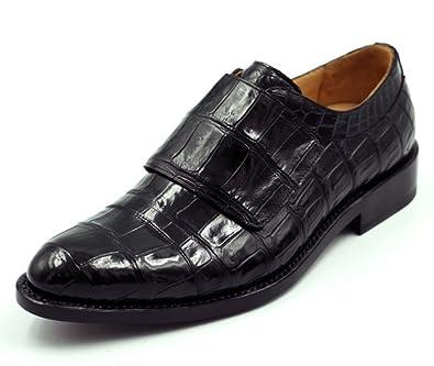 Mens Benutzerdefinierte Krokodilmuster Loafers Handgemachte Goodyear Leder Kleid Schuhe Stilvolle Derby Schuhe