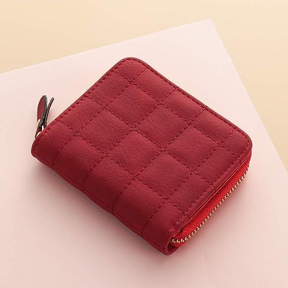 Women/'s Short Wallet Coin Purse Leather Bifold Small Handbag Zipper Clutch