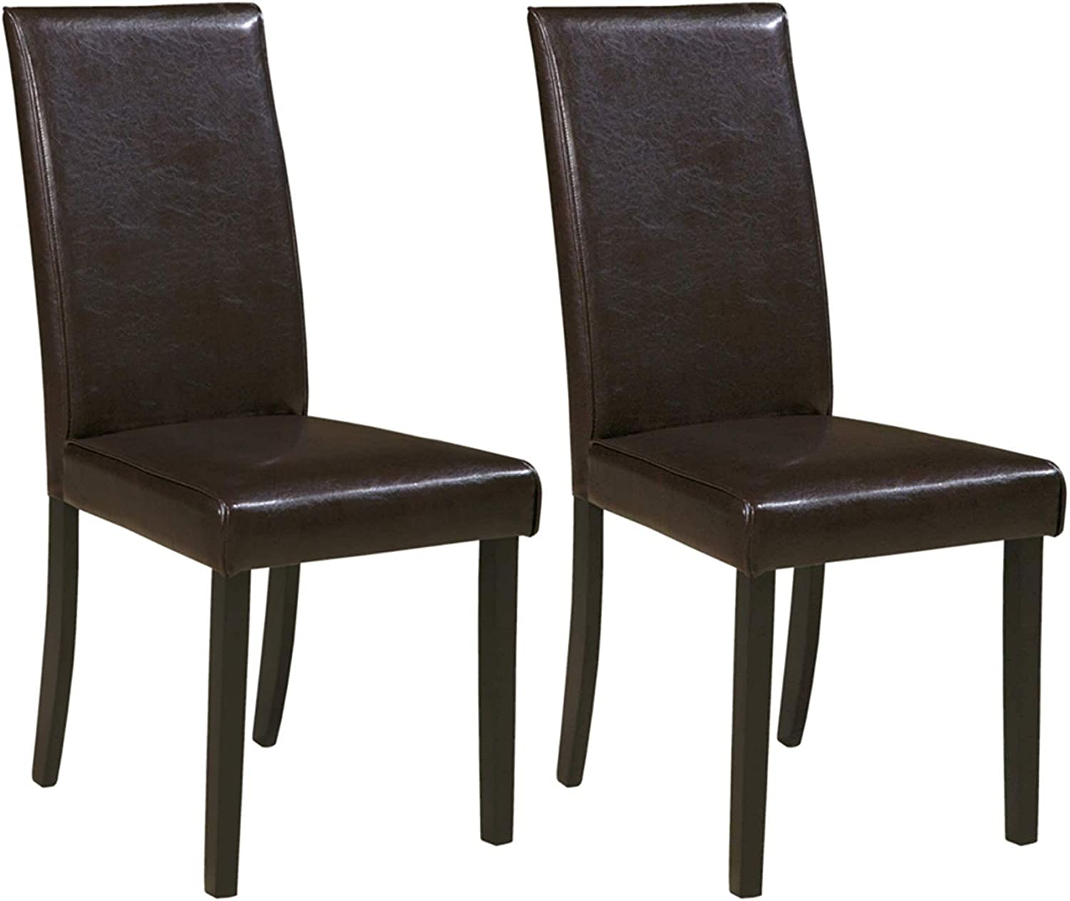 Ashley Furniture Signature Design - Kimonte Dining Room Chair - Contemporary - Set of 2 - Brown