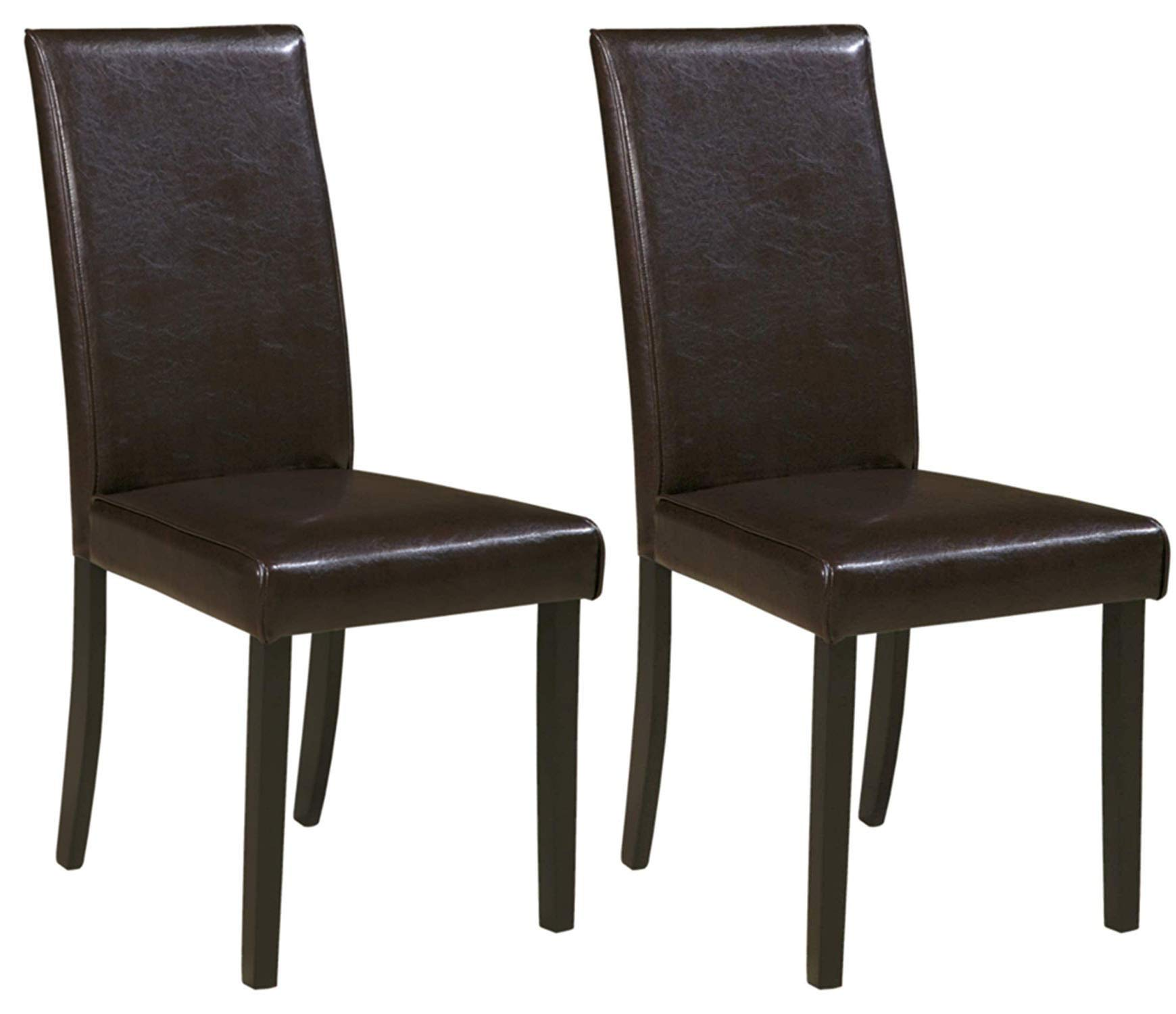 Ashley Furniture Signature Design - Kimonte Dining Room Chair - Contemporary - Set of 2 - Brown by Signature Design by Ashley