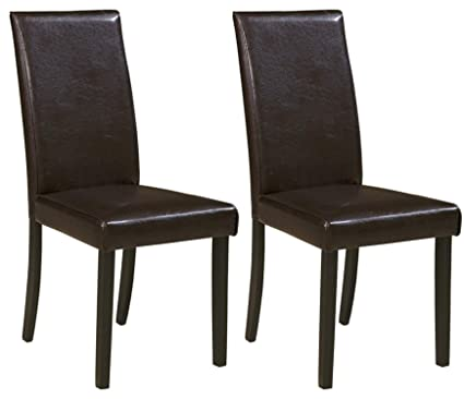 Signature Design By Ashley D250 02 Contemporary Dining Room Chair Brown Set Of