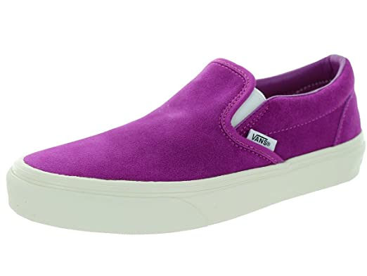 a96c184b3b37b1 Vans Classic Slip-on Shoes - (vintage Suede) Fuschia  Amazon.co.uk ...