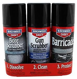 Birchwood Casey Gun Scrubber 1 - 2 - 3 Aerosol Value Pack