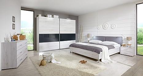 Camera Da Letto Grigio Chiaro : Pezzi camera da letto in bianco quercia entranti con reticolo