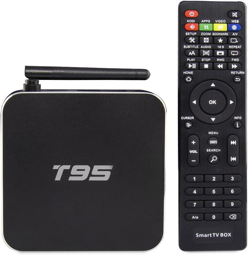 VENSMILE T95 Android 5.1 TV Box 2.0GHz Quad Core CPU 2GB RAM 8GB ROM Apoyo H.265 4K HD Pantalla con Mando Remoto y Cable HDMI: Amazon.es: Electrónica