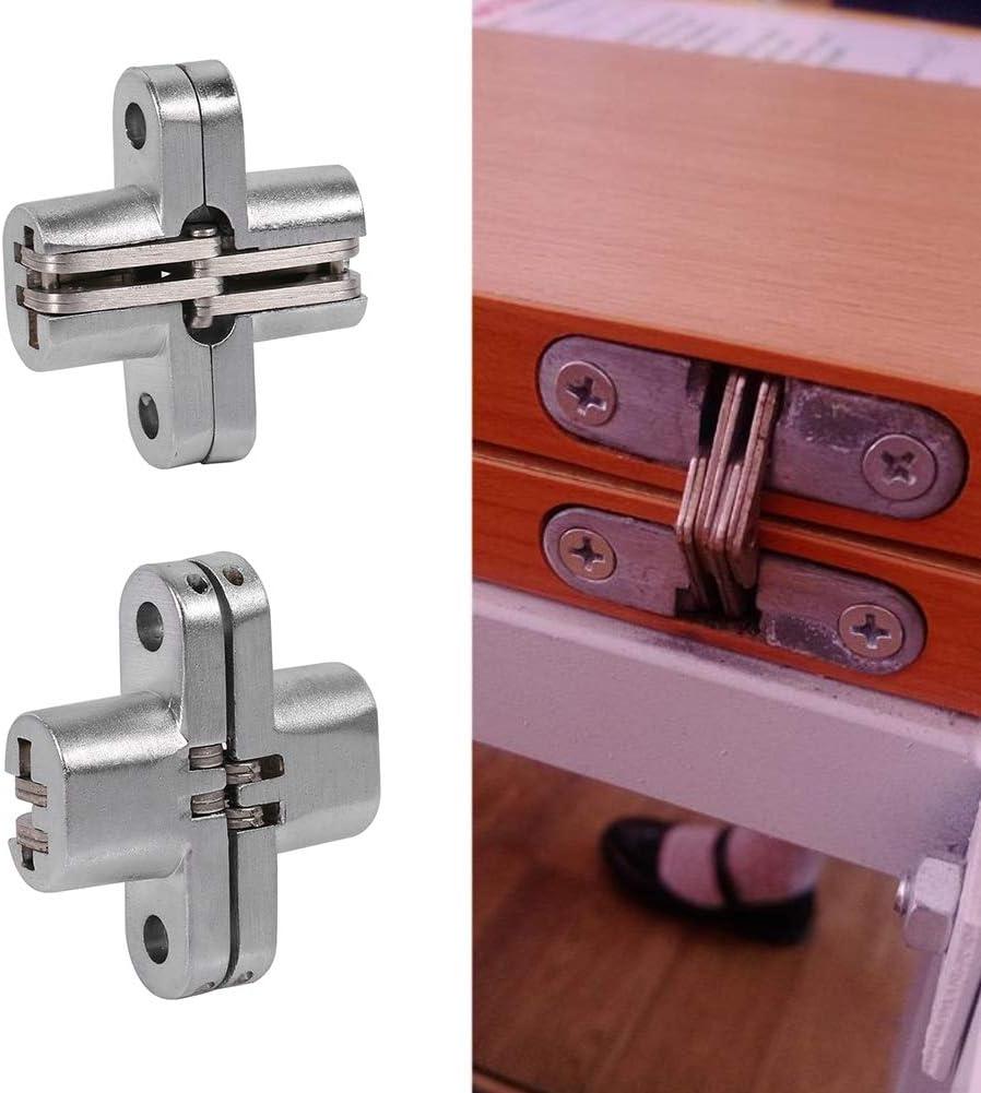 Aleaci/ón de zinc Bisagra oculta Invisible plegable puerta oculta Cruz oculta bisagras para muebles Hardware plegable puerta
