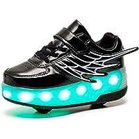 HUSKSWARE Roller Skates Shoes Girls Boys Wheel Shoes Kids Wheel Sneakers Roller Sneakers Shoes with Wheels