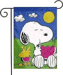 Criss Snoopy Garden Flag Perfect Decor for Outdoor Yard Porch Patio Farmhouse Lawn, 12 X 18 Inch