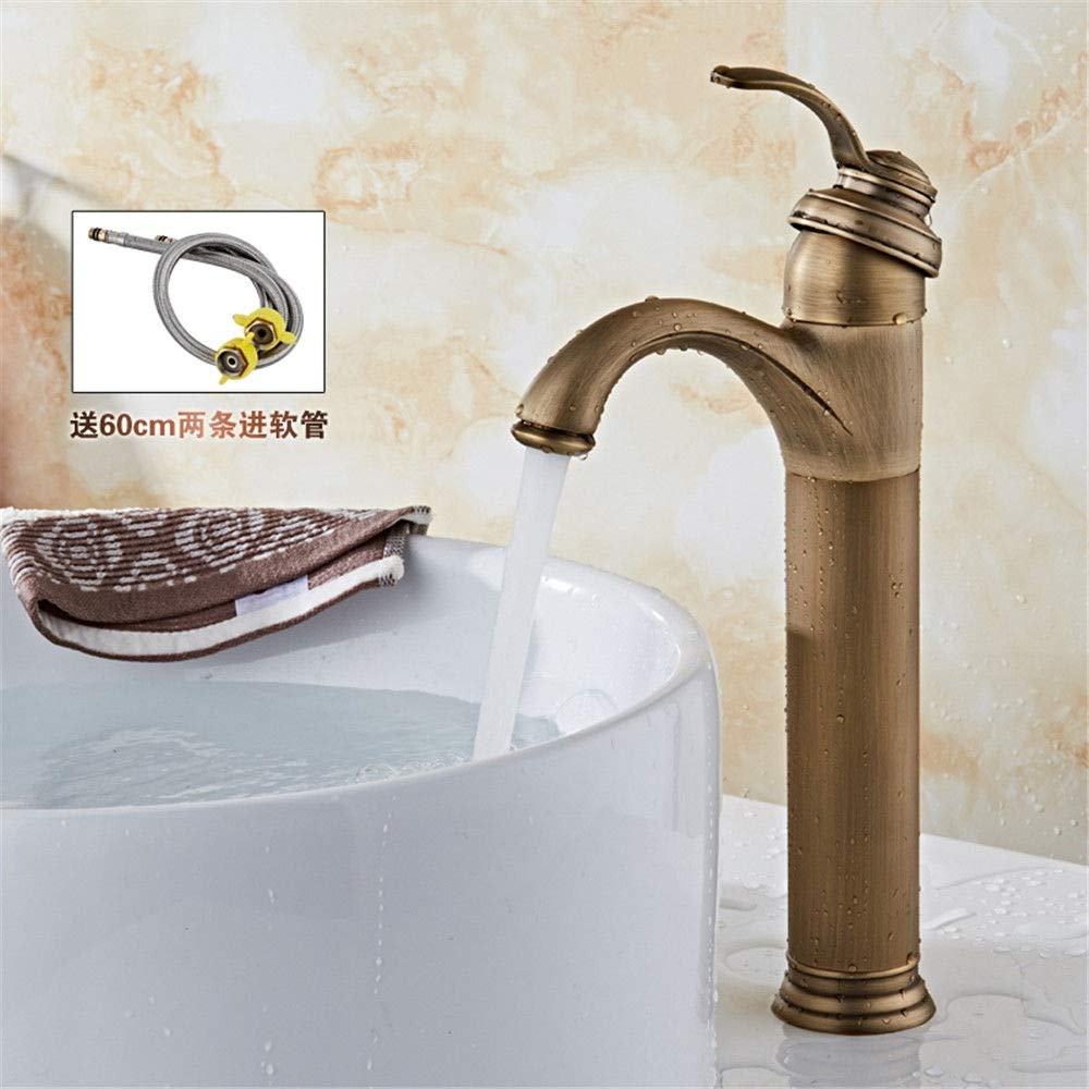 A Hlluya Professional Sink Mixer Tap Kitchen Faucet Antique and cold water faucets full copper antique fittings,