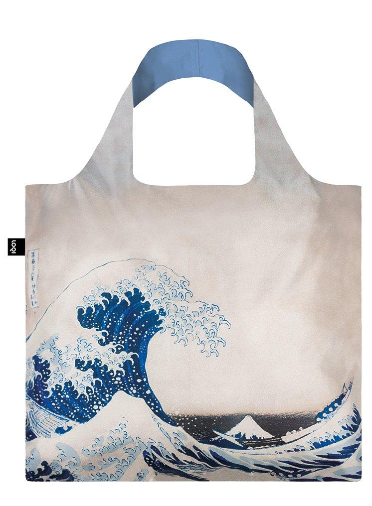 LOQI Museum Hokusai Einkaufstasche / Reisetasche Reise-Henkeltasche, 50 cm, Great Wave LQ-HOWA Innenarchitektur / Design Non Books Non Books / Taschen
