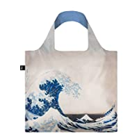 HOKUSAI The Great Wave Bag: Gewicht 55 g, Größe 50 x 42 cm, Zip-Etui 11 x 11.5 cm, handle 27 cm, water resistant, made of polyester, OEKO-TEX certified, can carry up to 20 kg