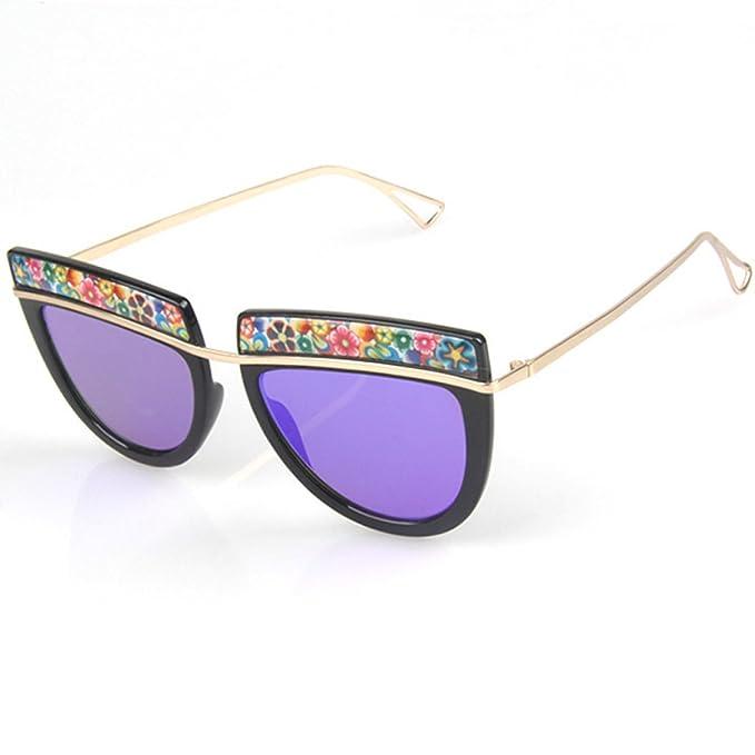 Wkaijc Retro Flugzeug Metall Einschließlich Blumen Mode Persönlichkeit Kreativität Lässig Bequem Sonnenbrillen ,A